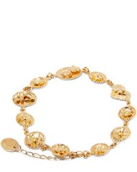 Alex Monroe | Yellow Gold Small Linked Wildflower Cameo Bracelet | Lyst
