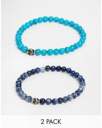 Simon Carter | Blue Semi Precious Bracelet Pack for Men | Lyst