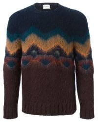 Iceberg - Blue Crew Neck Sweater for Men - Lyst