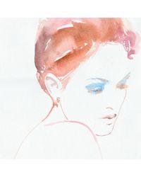 Lulu Frost | Metallic Code Number 14kt Rose Gold #6 Earring | Lyst