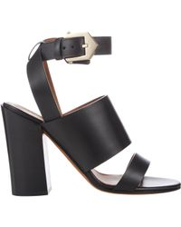Givenchy | Black Double-Band Sara Sandals | Lyst