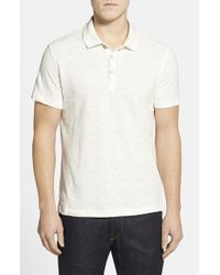 Robert Graham - Natural 'cliff Dive' Slub Cotton Pique Polo for Men - Lyst