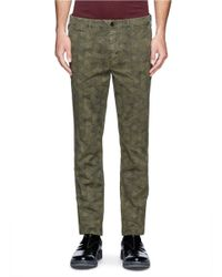 Paul Smith - Green Sketch Hexagon Print Pants for Men - Lyst