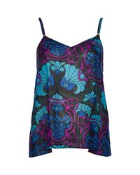 River Island - Purple Deco Floral Print Cami Top - Lyst
