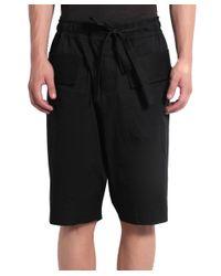 Damir Doma - Black Cotton Bermuda Shorts With Drawstring for Men - Lyst