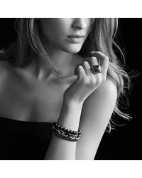 David Yurman | Black Oval Large Link Bracelet | Lyst