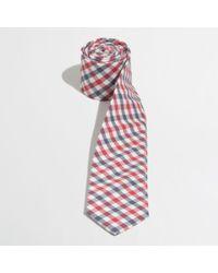 J.Crew - Blue Factory Tattersall Tie for Men - Lyst