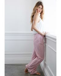 Forever 21 | Pink Striped Pj Pants | Lyst