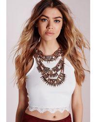 Missguided - Metallic Premium Statement Necklace - Lyst