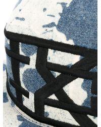 KTZ - Blue Splatter Print Cap for Men - Lyst