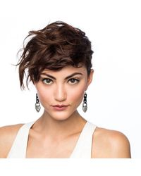 Lulu Frost - Metallic Blackheart Drop Earring - Lyst