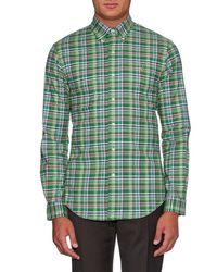 Polo Ralph Lauren - Green Slim-fit Check-print Shirt for Men - Lyst