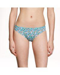 J.Crew | Blue Leaf-print Bikini | Lyst