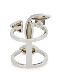 Ca&Lou   Metallic Elsa Swarovski Crystal Ring   Lyst