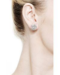 Kwiat - Metallic Platinum Diamond Cluster Earrings - Lyst