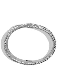 David Yurman | Metallic Willow Five-row Bracelet With Diamonds | Lyst