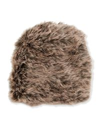 Jocelyn - Brown Rabbit-fur Knit Hat - Lyst