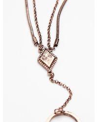 Free People - Metallic Cuff To Chain Handpiece - Lyst