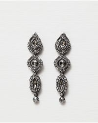 Zara | Metallic Teardrop Earrings | Lyst