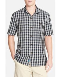 Tommy Bahama | Black 'bring 'em Gingham' Original Fit Silk Camp Shirt for Men | Lyst