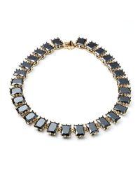 Eddie Borgo | Black Rectangle Estate Necklace | Lyst