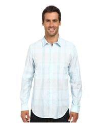 Calvin Klein   Blue Liquid Cotton Large Plaid Woven Shirt for Men   Lyst