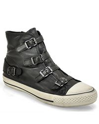 Ash - Black Buckle Sneaker In Leather - Lyst