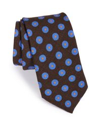 Ted Baker | Brown 'dot In Dot' Silk Tie for Men | Lyst