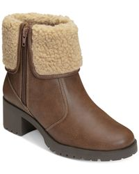 Aerosoles - Brown Boldness Faux-shearling Cold Weather Boots - Lyst