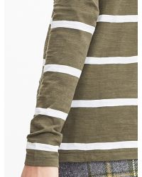 "Banana Republic | Green Stripe ""le Tee"" Shirt 