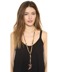 Hipchik Couture - Natural Agate Y Necklace - Beige - Lyst