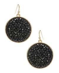 ABS By Allen Schwartz | Metallic Round Gemstone Earrings | Lyst
