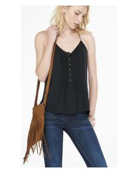 Express - Black Pintuck Cami - Lyst