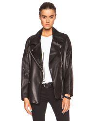 Acne Studios | Black Swift Light Leather Jacket | Lyst