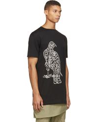 Thamanyah - Black Bird Print T_shirt for Men - Lyst