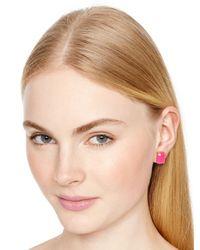Kate Spade | Pink Emerald Cut Studs | Lyst