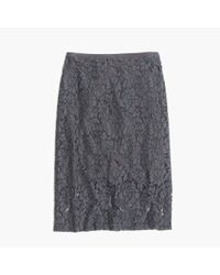 Madewell | Gray Lace Pencil Skirt | Lyst