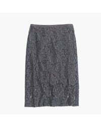 Madewell - Gray Lace Pencil Skirt - Lyst