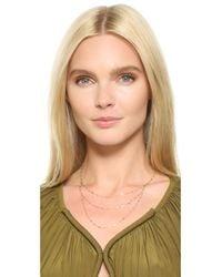 Phyllis + Rosie | Metallic Banks Necklace | Lyst