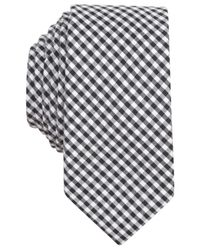 Original Penguin | Black Arachne Check Skinny Tie for Men | Lyst