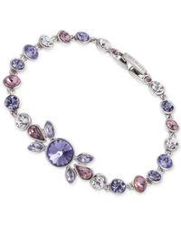 Givenchy - Blue Silver-tone Multi-crystal Flex Bracelet - Lyst