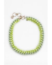 French Connection - Green Ombre Thread Wrapped Collar Necklace - Lyst