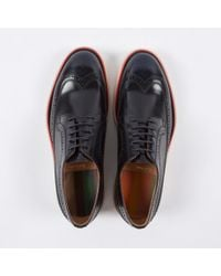 Paul Smith | Blue Men's Dark Navy Leather 'grand' Brogues for Men | Lyst