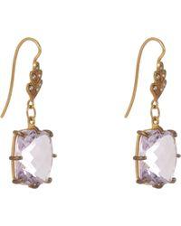 Cathy Waterman - Purple Gemstone Drop Earrings - Lyst