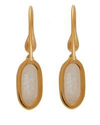 Monica Vinader - Metallic Gold-plated Vega Drop Earrings - Lyst