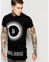 Criminal Damage | Black Ripple Print T-shirt for Men | Lyst