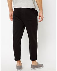 ASOS | Black Skinny Joggers In Cropped With K Symbol for Men | Lyst