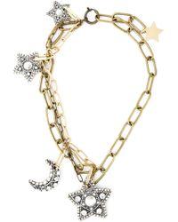Lanvin - Metallic Star And Moon Pendant Necklace - Lyst