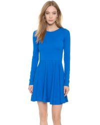 Alice + Olivia - Blue Brinley Mini Dress - Cobalt - Lyst