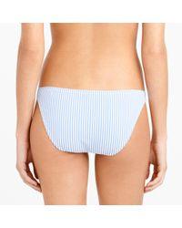 J.Crew | Blue Seersucker String Bikini Top | Lyst
